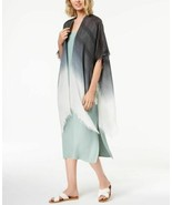 Steve Madden Ombre Metallic-Stripe Boho Wrap & Cover-Up (Black, One Size) - $29.60