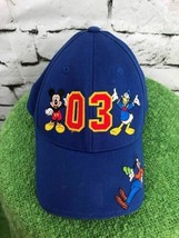 Disneyland '03 Boys O/S Hat Blue  Mickey Mouse Donald Duck Goofy Basebal... - $14.84