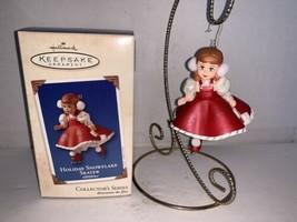 Hallmark Keepsake Ornament Holiday Snowflake Skater #8 In Series 2003 - $7.50