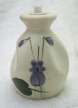 Vintage Devon Violets Perfume Bottle White Pottery 3 1/2 In Tall NICE! SHP - $18.32