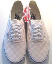 Vans Mens Authentic Checkerboard Chalk Pink White Skate Boat shoes Size 11 NWT - $54.44
