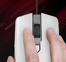 Geekstar GM900 3325 Wired Gaming Mouse 6-Step DPI Weight Switch (White Black) image 2