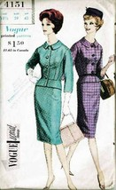Vintage 1960 Misses' JACKET & SKIRT Vogue Pattern 4151 - Size 18½ UNCUT - $14.00