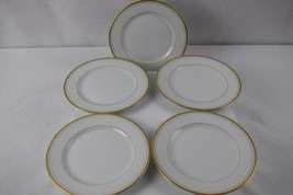 Fitz & Floyd Palais White Bread & Butter Plate 6 5/8 inch Set of 5 - $35.00