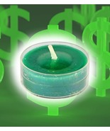 FREE W ANY ORDER HAUNTED CANDLE 27X ATTRACT MONEY MAGICK GREEN WITCH  - $0.00