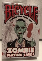 Bicycle ZOMBIE Playing Cards SEALED Deck - Contain 52 Zombie Surviving T... - $5.36
