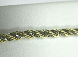 "UNOAERRE 14K Multi Yellow White Gold Rope, Boxlink Woven Bracelet 7"" - $872.99"
