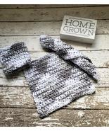 Gray White Dish Cloth Set of 3 Handmade Crochet Eco Friendly Cotton Dish... - $20.75