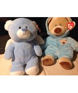2 TY Pluffies Angel Bear and Bear - $24.75