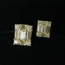 18K Yellow Gold Two Cluster Custom 1.67 CTW Diamond Ring Size 6.25 - $1,516.20