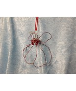Red hand-crafted wire/bead Angel Ornament/Sun-catcher - $21.99