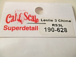 Cal Cal Scale # 190-628 Brass Leslie Air Horn 3 chime RS3L.  1 Pack HO Scale image 2