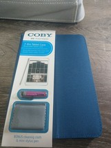 "NEW COBY 7-8"" TABLET CASE. Includes stylus & cloth. Reversible, Blue/Pink - $11.71"