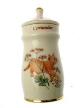 Lesley Anne Ivory Cats Spice Jar Coriander GB387 - $25.68