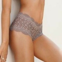 Victoria's Secret Lace Panty-Medium, Grey/Brown - $18.34