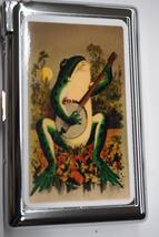 Cool Frog With Banjo Cigarette Case/Lighter Combo - $27.95