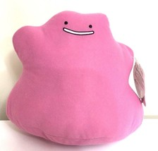 New Large Pokemon Go Plush Ditto 12'' Wide 9'' High. Pillow Toy. License... - $18.51