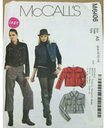 McCalls M6406 Misses Jackets Sizes 6-8-10-12-14 Uncut Easy Sewing Pattern - $12.71