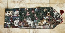 Christmas Tapestry Table Runner Cats Giraffes Zebras Bears Soldiers 70 x... - $16.82