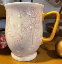 Disney Parks Princess Pink Sketch Ceramic Mug Cup NEW - $24.90