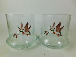 Avon  CHESAPEAKE COLLECTION Two 8 OZ DRINKING GLASSES MALLARD DUCK - $4.77
