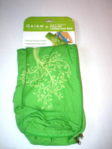 New Gaiam Mat Carrier Full Zip Cargo Pockets Hot Yoga Pilates Green Tree Barre - $16.00