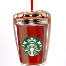 "Starbucks Red Cup Stripe Ornament Cold Cup 3"" 2018 Holiday Collection - $20.48"