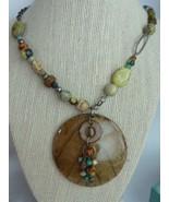 Silpada Kabkaban Wood Leaf Sterling Silver Reversible Green Brown Necklace - $42.10