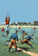 Leaping Catch on the Baseball Diamond - Art Print - $19.99+