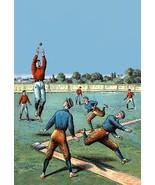Leaping Catch on the Baseball Diamond - Art Print - $19.99 - $179.99