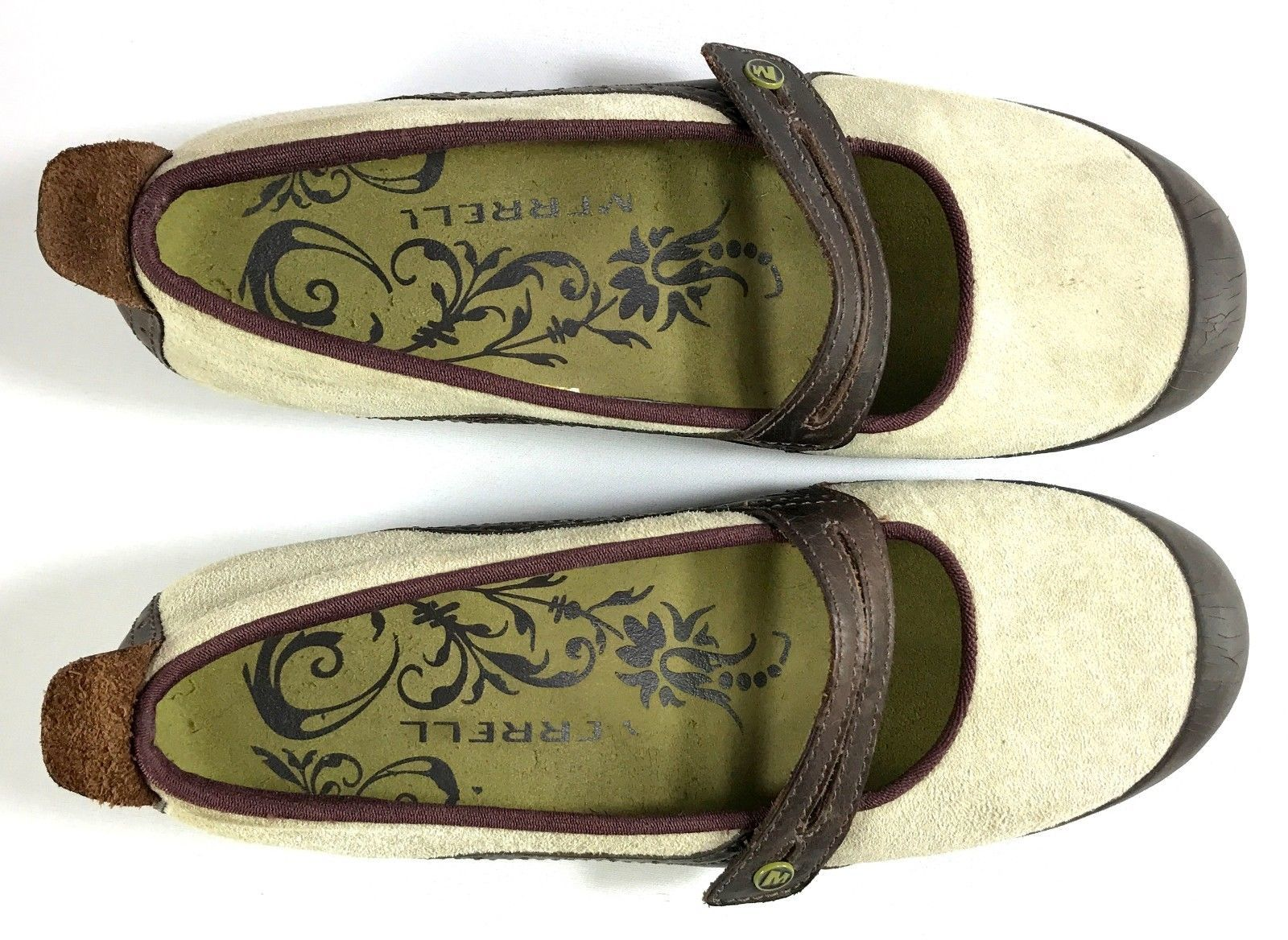 Merrell Mary Jane Shoes Womens Plaza Bandeau Size 9.5 Brown / Beige