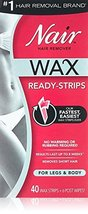 Nair Hair Remover Wax Ready-Strips 40 Count Legs/Body 2 Pack image 11