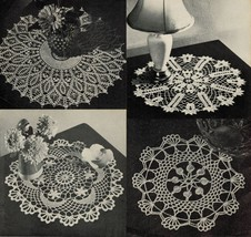 Vtg Coats & Clark's Crochet 13 Doilies Runner Centerpiece Edgings Patter... - $12.99