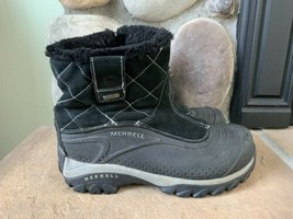 MERRELL Pull On Boots Black Waterproof Insulated Ice Flow Womens Size 8 - $48.96