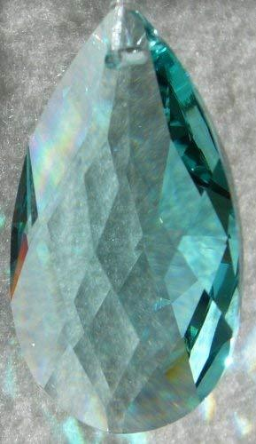 Swarovski 50mm Antique Green Crystal Oval Drop Prism