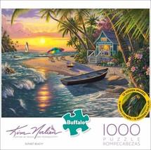 Buffalo Games - Kim Norlien - Sunset Beach - 1000 Piece Jigsaw Puzzle  - $8.00