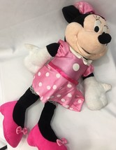 Disney Kids Pink W/ White  Polka Dot Stuffed Animal Doll Minnie Mouse Sm... - $13.70