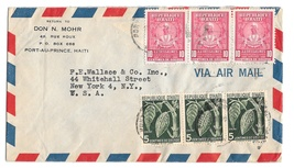 Haiti Airmail Cover Port Au Prince to New York US Scott# 381 389  - $4.99
