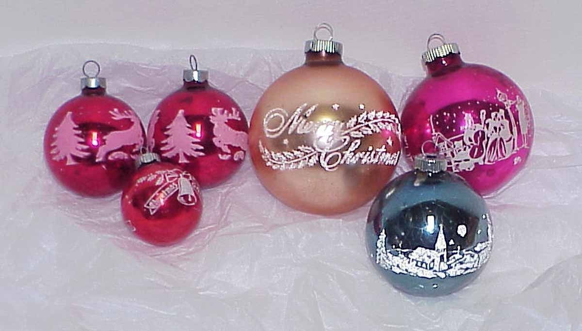 6 Vintage Glass Christmas Ornaments And 50 Similar Items