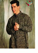 Danny Wood Alyssa Milano teen magazine pinup clipping low black dress