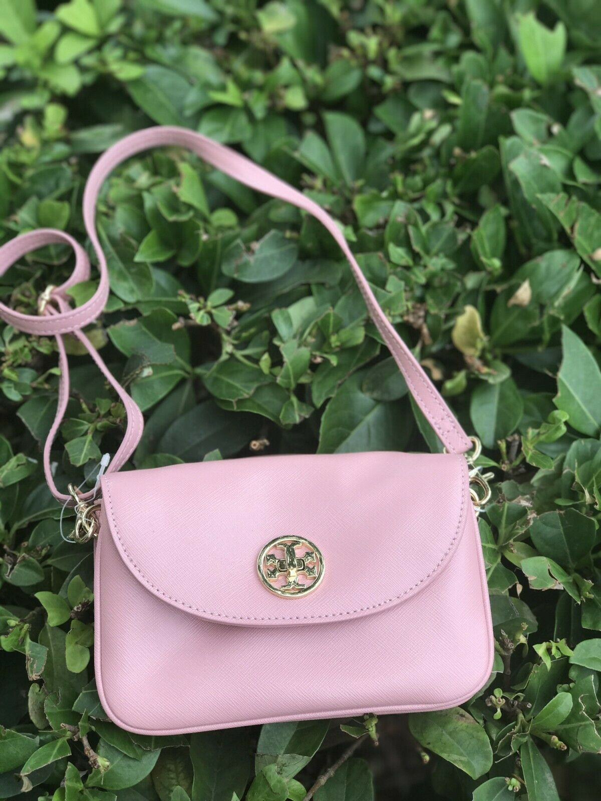 Primary image for NWT TORY BURCH Robinson Small Crossbody Clutch Bag, PINK Sachet