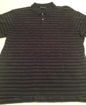 Men's Polo Ralph Lauren Golf SS Shirt Size XL Navy Blue Horizontal Stripes - $11.99
