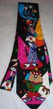 Taz Bugs Bunny Charactesr Black Looney Tunes Neck Tie - $10.00