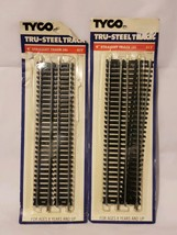 "Tyco Tru-Steel Tracks  9"" Straight Tract 8  Pieces HO Gauge #417 - $21.28"