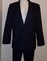 Sag Harbor Purple 2-Piece Suit Blazer Jacket Pants Size 8 Petite 100% Wool - $29.65