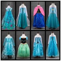 Girls Cartton disfraz Anna Elsa elza Dress Kids Dresses princess Girl di... - $19.99