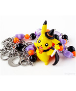 Halloween Pikachu Necklace, Halloween Necklace, Pokemon Necklace, Kawaii... - $28.00