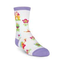 K.Bell Girl's Fairy Tale Princess Frog Crew Socks Shoe Size 10-13 Free S... - $7.42