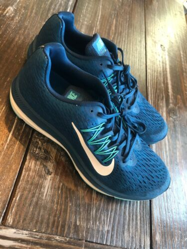 Nike Zoom Winflo 5 Running Fitness Shoes Blue Force Summit White Womens Size 5.5