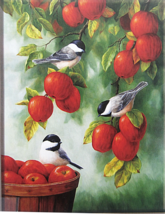 Cross Stitch Needlepoint Kit Robins in Apple Trees Magpie Robin 14CT - $22.72